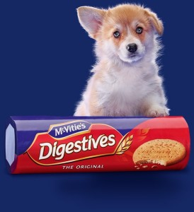 Pic from the McVities site, but I'm not entirely sure what is going on with the dog. A dog can't have my digestives.
